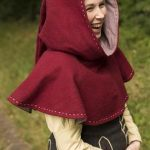 Hood - Medieval - Dark Red