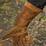 Leather handschoen - bruin