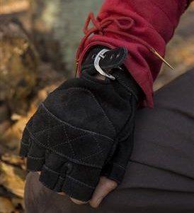 Seude handschoen zwart