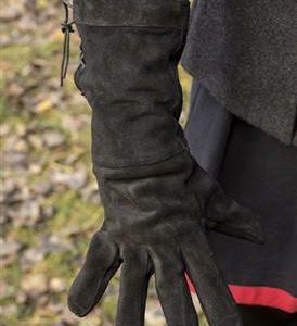 leather handschoen zwart